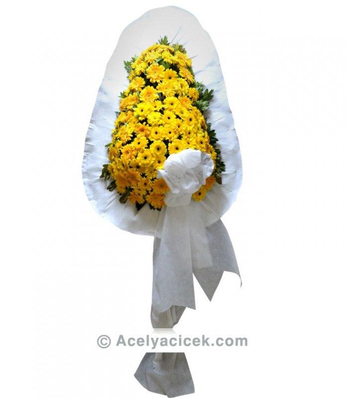Sarı Gerberalı Ayaklı Sepet