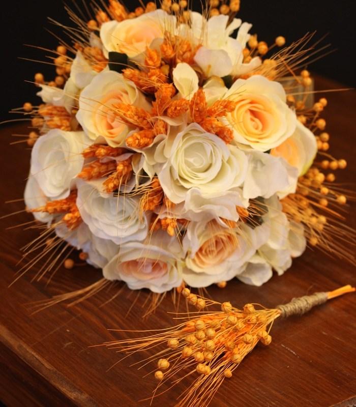 Krem Gül Gelin Çiçeği