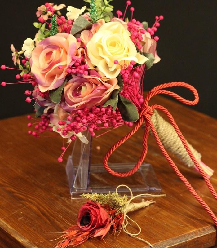 Krem Pembe Gelin Çiçeği