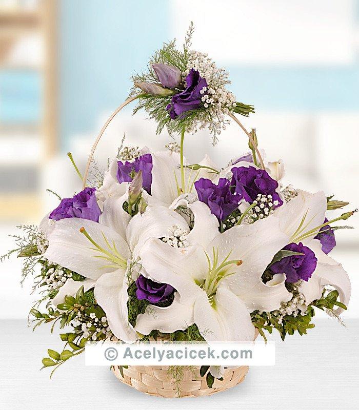 Sepette Lilyum Çiçeği Aranjmanı
