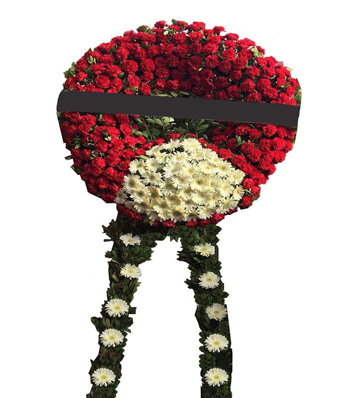 Pembe Kırmızı Cenaze Çelengi